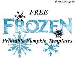 free frozen pumpkin carving halloween templates free stencil