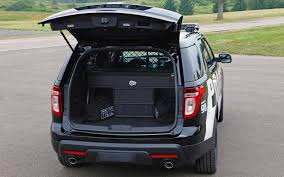 ford explorer trunk space 2012 ford taurus and explorer interceptor look