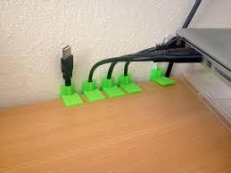 passe cable de bureau passe câbles imprimé en 3d les imprimantes 3d fr