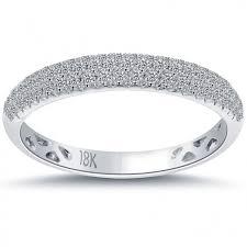 18k white gold wedding band carat f vs1 micro pave diamond wedding band ring 18k white gold