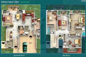 villa floor plan gallery villas floor plans dubai sports city attached detached