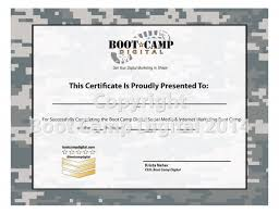 free boot camp certificate template