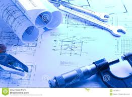house blueprint with micrometer stock photography image 16670472