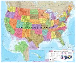 United States Wall Map by United States Political Map Political Map Of United States Of