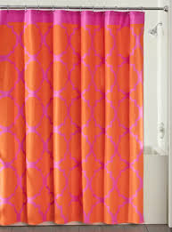 Pink And Orange Curtains Fret Shower Curtain Decor By Color