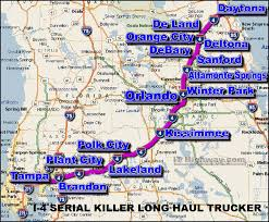 Central Florida Map by I 4 Serial Killer In Central Florida Has Been Tagged By Fbi Vicap
