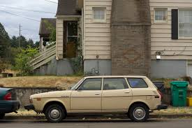 subaru leone wagon old parked cars 1979 subaru dl wagon