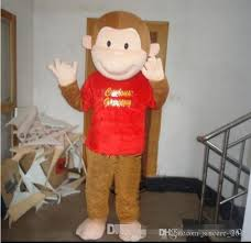 quality size cartoon curious george monkey mascot