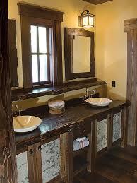 Rustic Bathroom Sconces Rustic Bathroom Vanities For Vessel Sinks 26 Rustic Vessel Chest