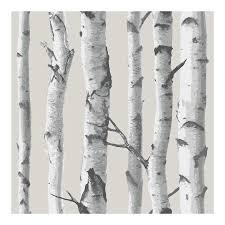 Peal And Stick Wall Paper Birch Tree Peel And Stick Wallpaper Walmart Com