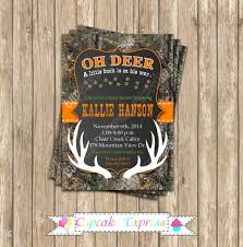 camo baby shower boy deer printable invitation 5x7