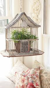 sweetest ideas for decorating with birdcages2 crafts a la mode angela lace shows how to dress up the top of a birdcage beautifully how lovely is this