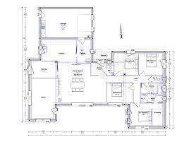plan maison 4 chambre plan maison plain pied 4 chambres 150m2 con plan maison 4 chambres