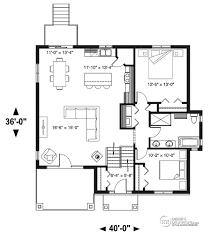 détail du plan de maison unifamiliale w3155 maisons pinterest