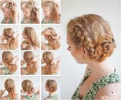 Hochsteckfrisurenen Selber Machen Locken by Hochsteckfrisur Mit Doppeldutt Für Lockige Haare Frisuren Für