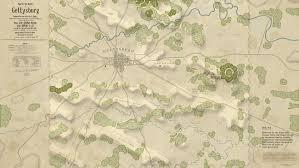 Battle Of Gettysburg Map Gettysburg Battle Hymn U2013 The Maps Art Direction U2013 Colour And Noise