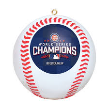 chicago cubs 2016 world series chions replica baseball ornament