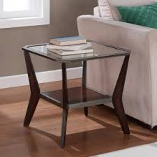 Glass End Tables Metal End Tables With Glass Top Foter