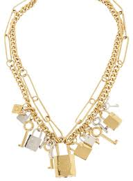 gold lock necklace images Marc by marc jacobs gold new key gold silver tone padlock necklace jpg