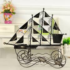 sailboat metal wine racks personalized ornaments wrought iron wine
