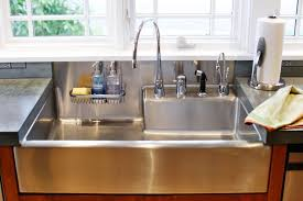 Stainless Steel Farm Sinks For Kitchens Stainless Steel Farmhouse Sinks Types Farmhouse Design And