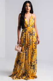 floral maxi dress watercolor floral mesh overlay maxi dress in mustard and black
