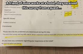 Funny Hotel Memes - funny hotel survey comments response 1 the memes factory