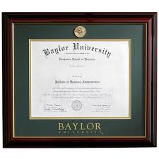 framing diplomas success baylor diploma frame
