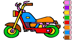 motorcycle coloring page for kids drawing motorcycle learning