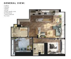 open layout floor plans 2 bedroom modern apartment design 100 square meters 2 great
