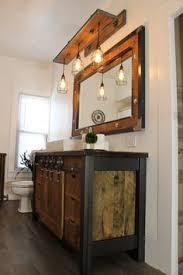 Rustic Bathroom Lighting Ideas 25 Rustic Style Ideas With Rustic Bathroom Vanities Wood Vanity