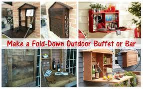 make a fold down outdoor buffet or bar u2013 diy scoop