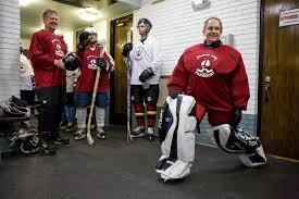 Floor Hockey Unit Plan by The U0027holy Goalie U0027 Bishop Using Hockey Skills For Charity News