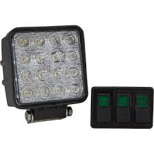 ultra tow xtp square led combo work light u2014 2 880 lumens 16 leds