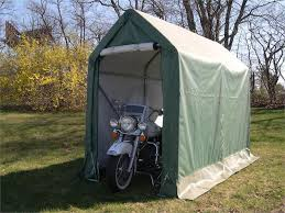 How To Build A Tent How To Build A Motorcycle Storage Shed Blue Carrot Com