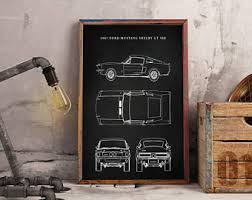ford mustang metal wall ford mustang etsy