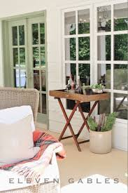 eleven gables back porch patio outdoor living room butler u0027s tray