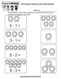 christmas addition worksheets kindergarten free worksheets library