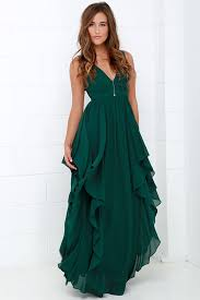 green dress beautiful green maxi dress prom dress bridesmaid dress