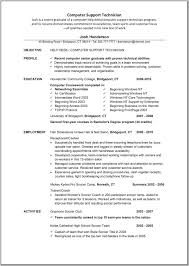 Computer Technician Resume Samples by Computer Technician Resume Objective Examples Contegri Com