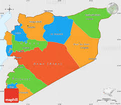 map of syria political simple map of syria single color outside