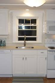 white subway tile with white grout menards backsplash blue glass