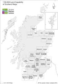 Map Of Glasgow Scotland 1 50 000 Land Capability For Agriculture Map Extents National