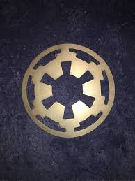 Home Theatre Wall Decor Star Wars Metal Wall Art Movie Imperial Symbol Sign Decor