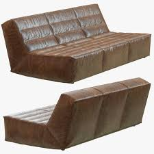 Restoration Hardware Chelsea Leather Sofa D Model MAX OBJ FBX MTL - Chelsea leather sofa