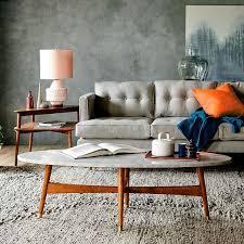 west elm reeve coffee table reeve mid century oval coffee table marble top west elm