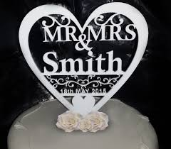 personalised mr u0026 mrs wedding cake topper