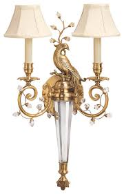 Traditional Sconces Decorative Crafts Brass U0026 Crystal Sconce 5155 Traditional