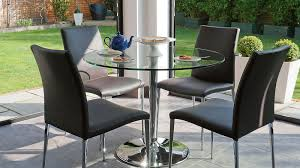glass top tables dining room furniture round glass dining table for 4 set with tavble room and
