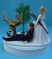 dragging groom cake topper wedding cake topper deer rifle themed groom w